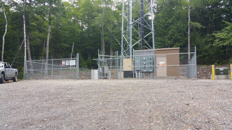 photo of base of communications tower