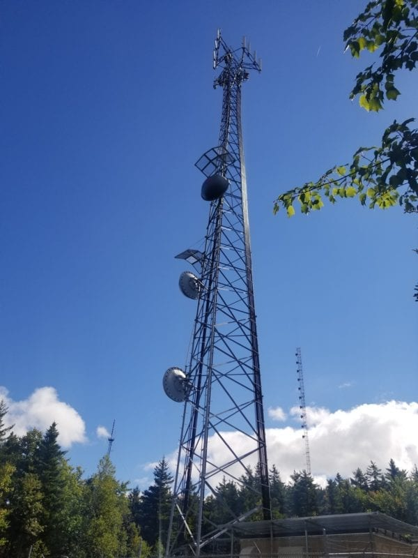 photo of a communications tower