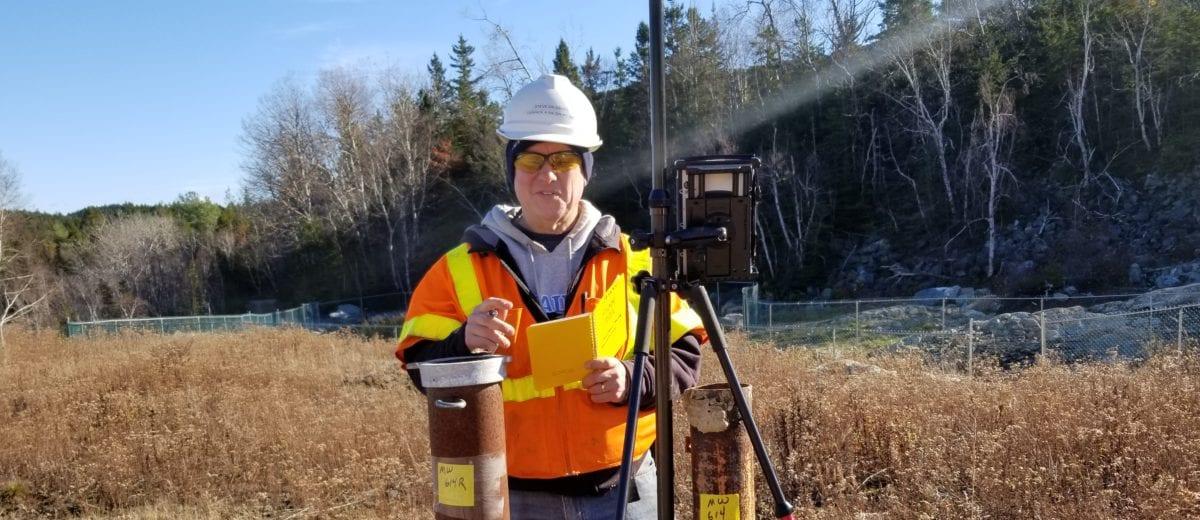photo of surveyor in the field