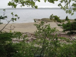 photo of maine beach